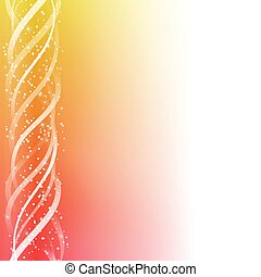 Red an Yellow Colorful Glowing Lines Background. Editable...