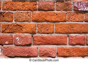 Red ancient brick wall