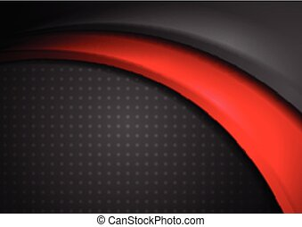 Red and black abstract smooth wavy background
