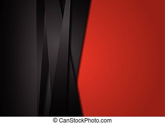 Red and black abstract striped background. Corporate vector...