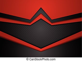 Red and black abstract technology background