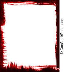 Red and Black Brush Frame