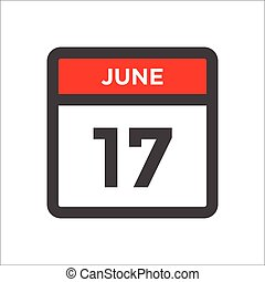 Red and black calendar icon with day of month