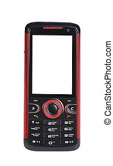 Red and black cell phone.