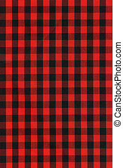 Red and black checkered fabric texture