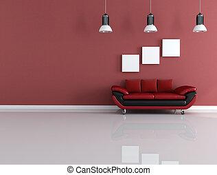 couch of velvet on wheels
