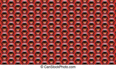 Red and Black Embossed Hexagon Background Vector Illustration