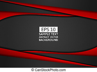 Red and black geometric abstract background modern design with copy space for your business, Vector illustration eps10