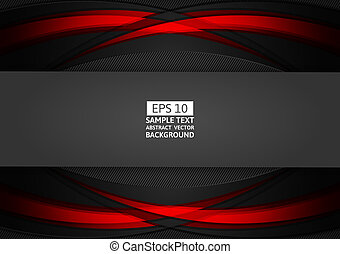 Red and black geometric abstract background modern design with copy space for your business, Vector illustration