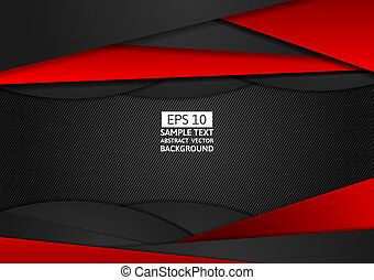 Red and black geometric abstract vector background modern design with copy space for your business