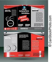 Red and black leaflet flyer