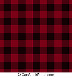 Red and Black Plaid Fabric Background that is seamless and...