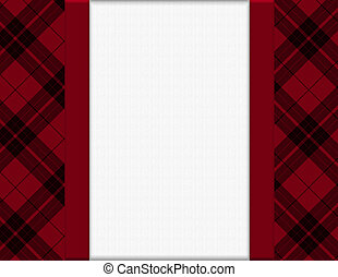 Red and Black Plaid Frame for your message or invitation