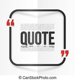 Red and black rounded frame with place for your quote at...