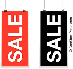 red and black sale sign