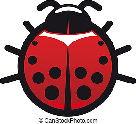Red and black spotted ladybug icon