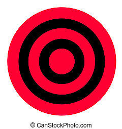 Red and black target