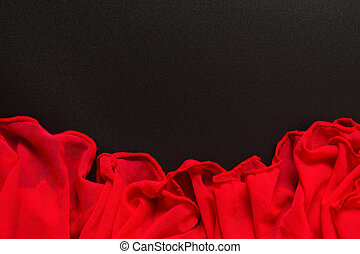 Red and black textile romantic fabric design background. Passion in backdrop