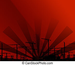 Red and Black urban background