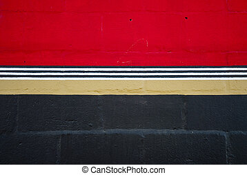 Red and black wall