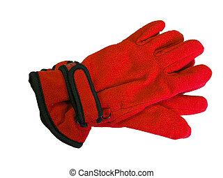 Red and Black Winter Glov - Red and black winter gloves