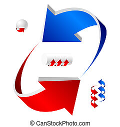 Red and blue arows - Vector illustration of arrows. You may...