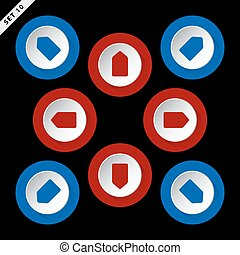 red and blue arrows - eight directions