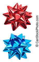 Red and blue bows