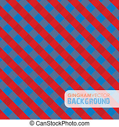 red and blue gingham