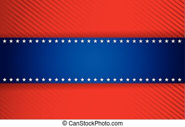 red and blue patriotic illustration design