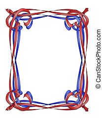 Red and Blue Ribbon frame