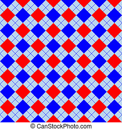 red and blue sweater texture