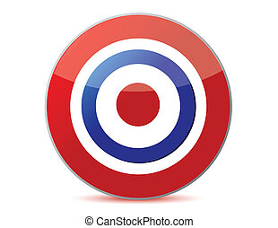 target - red and blue target icon with drop shadow in...