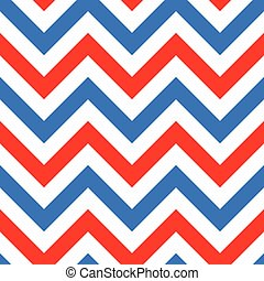 Red and blue zigzag seamless pattern