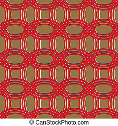 red and brown chain armor pattern
