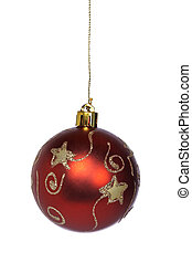 Red and gold Christmas ball