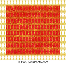 Red and Gold Harlequin Background