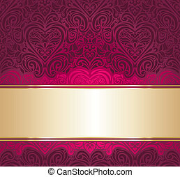 red and gold invitation background