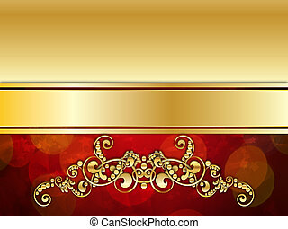 Red and Gold Luxury Background - Vintage red background with...