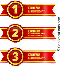 Red and gold ribbon - Red and gold the winner ribbon awards...