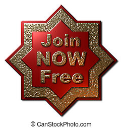 Red and Gold Seal - Join NOW Free