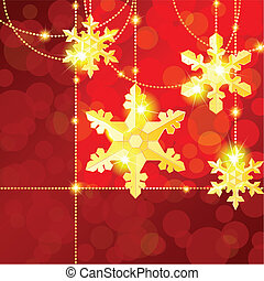 Red and gold transparent banner - Red and gold Christmas ...