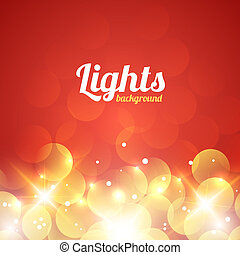 Red and Golden Bokeh Abstract Light Background