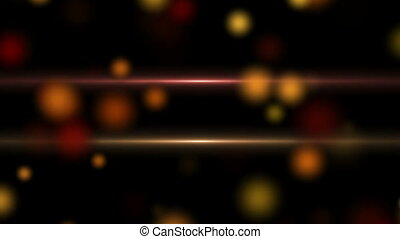 Red and Golden Defocused Particles