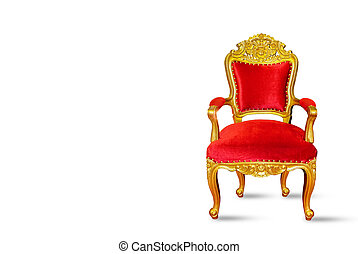Red and golden luxury chair