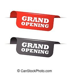 red and gray vector elements grand opening