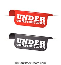 red and gray vector elements under construction - This is...