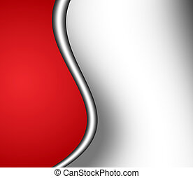 red and gray waves