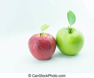 Red and green apples.