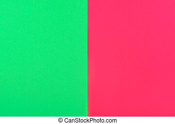 red and green background with copy space, creative idea